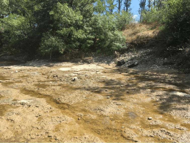 bedrock calcaire pour l'orpaillage