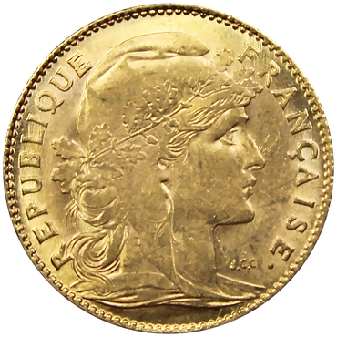 10 francs or mariane