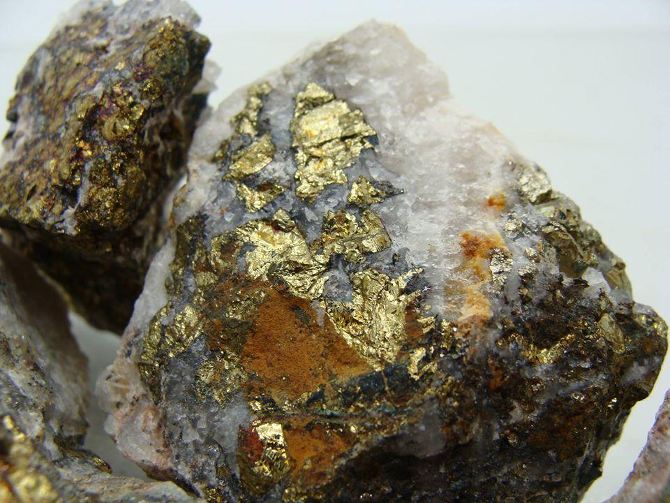 inclusion de pyrite dans quartz