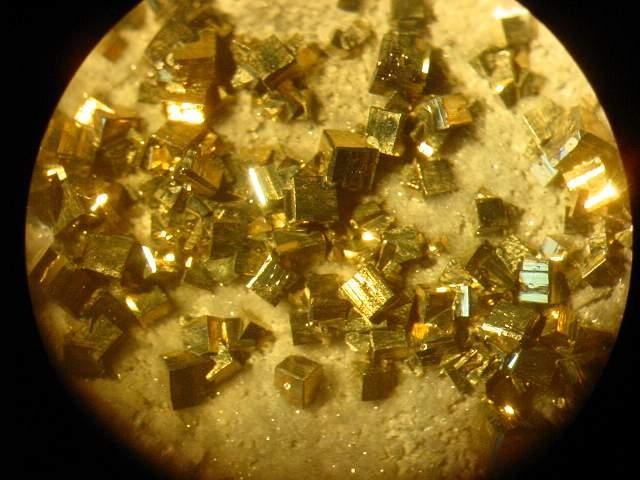 pyrite vue à a binoculaire