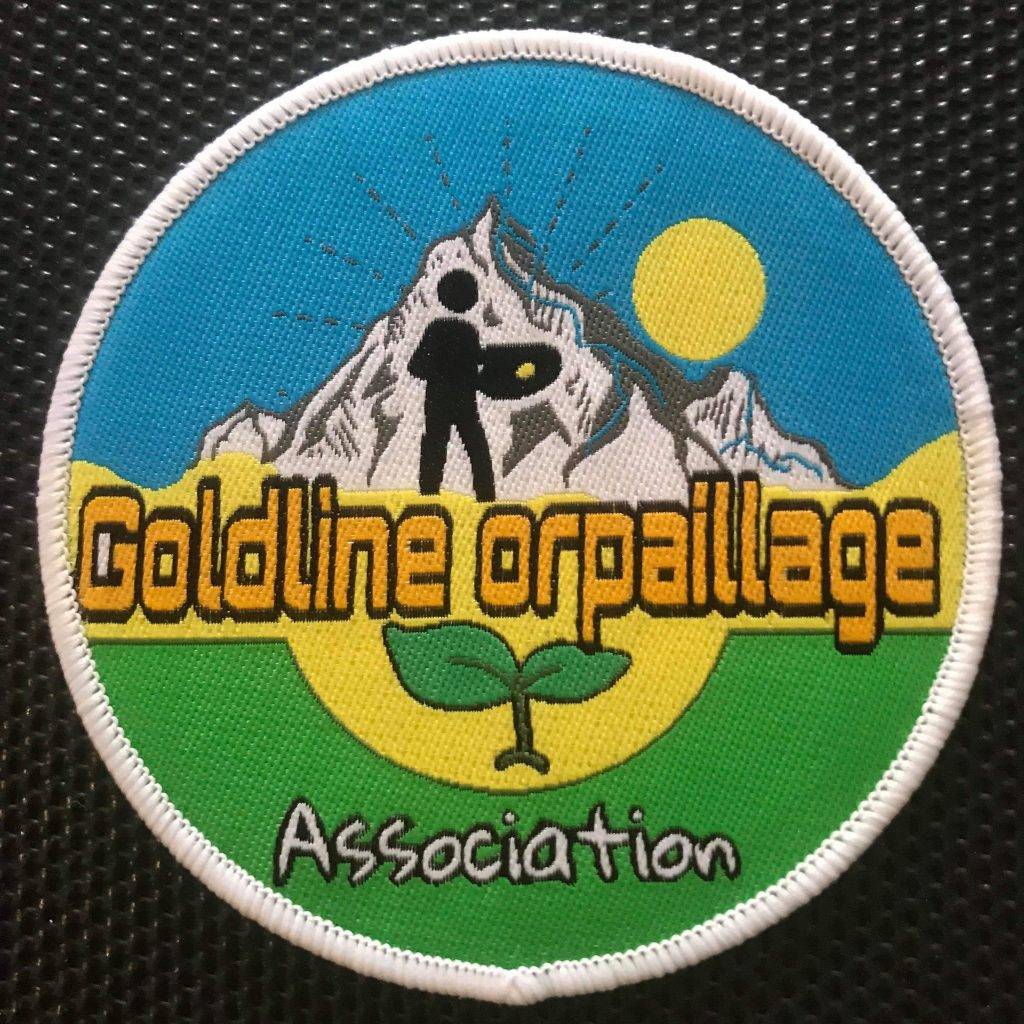 Badge thermocollant de Goldline orpaillage