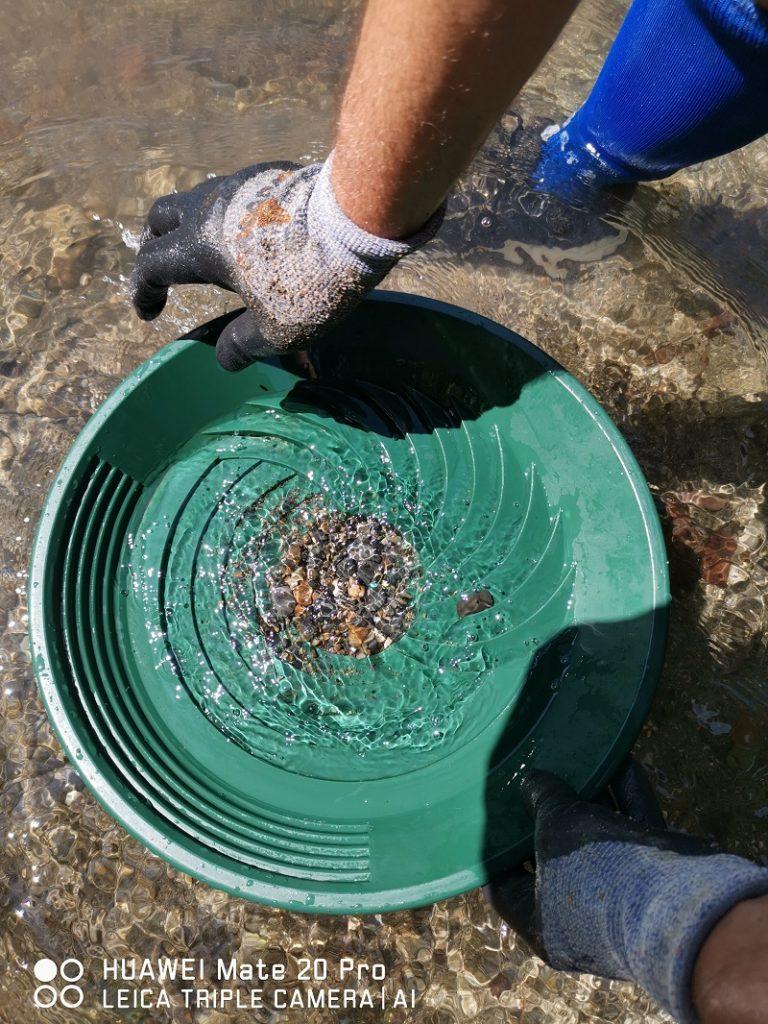 les graviers dans le puits du turbopan