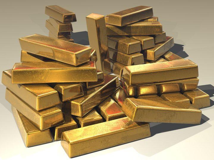 Tas de lingots d'or