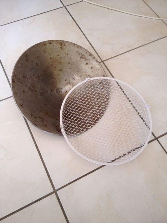 grille de ventillateur pouvant servir de tamis
