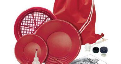 le kit d'orpaillage Bounty Hunter reconnaissable par sa couleur rouge