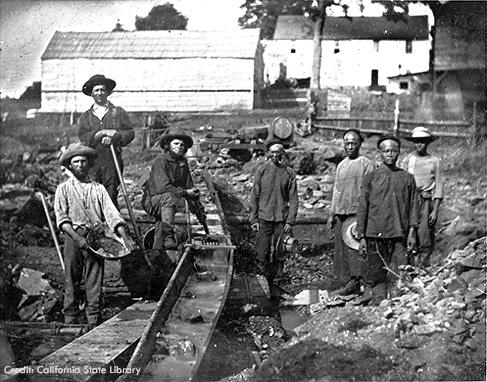 photo d'un groupe de chercheur d'or lors de la ruée vers l'or