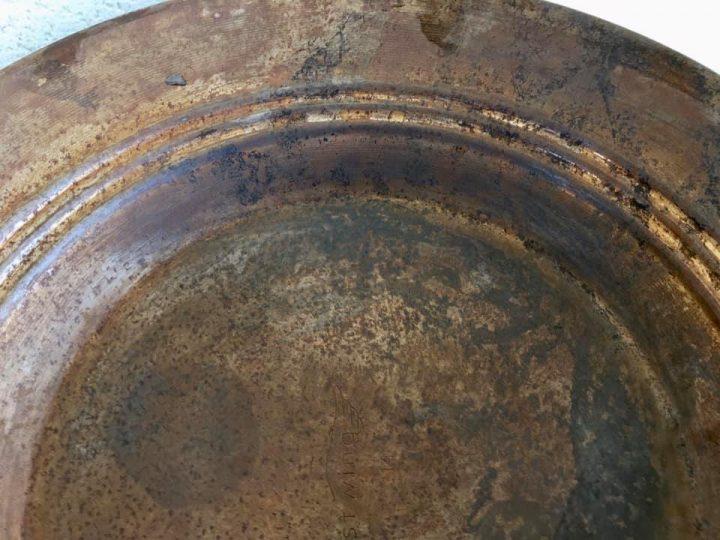 vue d'un pan metallique après traitement