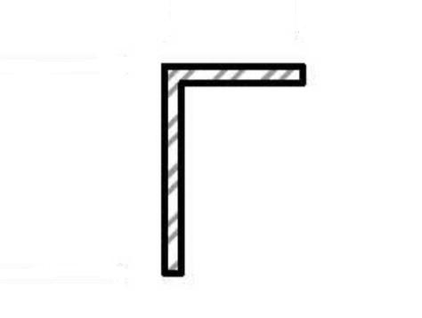 riffles à angle droit vertical