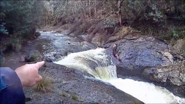 les chutes d'eau sont aussi aurifère dans les rivières