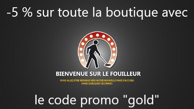 code promo pour du matériel d'orpaillage