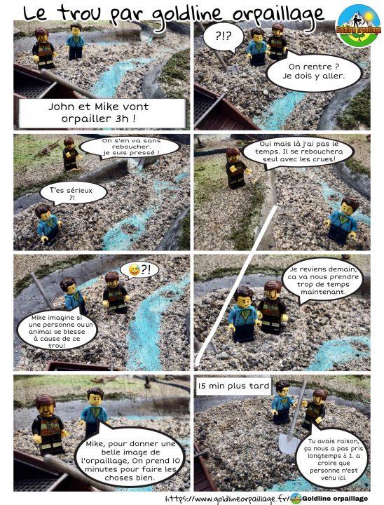 première planche bande dessinée goldline orpaillage