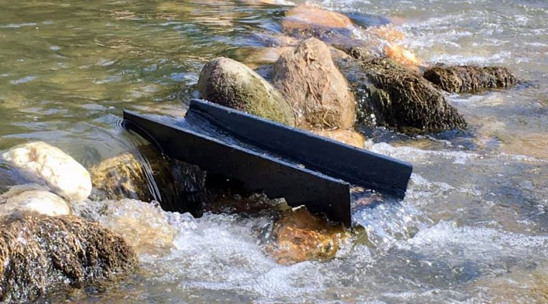 la pente idéale pour une rampe d'orpaillage caledonian