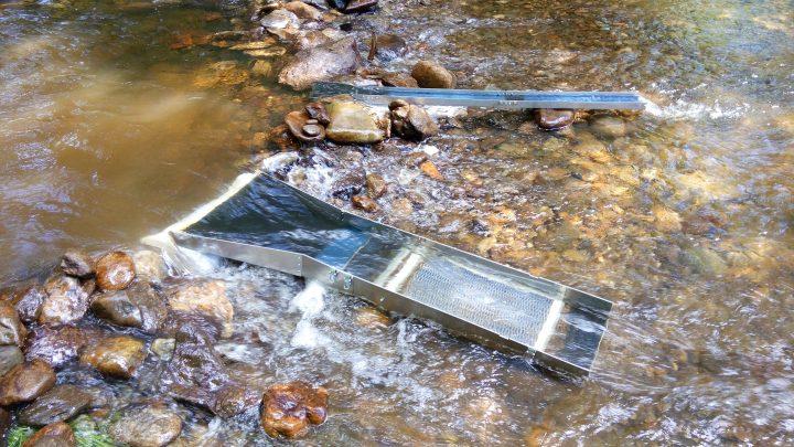 rampe d'orpaillage ELVO4 de goldblitz en action