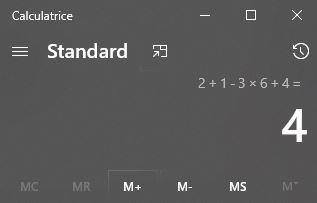 calculatrice strandard