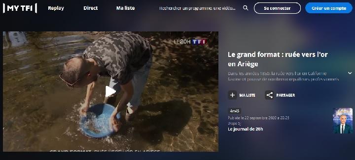 l'équipe de goldline orpaillage passe au journal de TF1