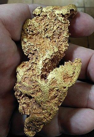 pépite d'or de 280 grammes trouvé en Australie en Septembre 2020