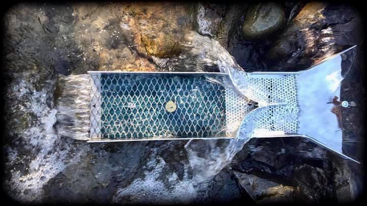 rampe d'orpaillage fait maison diy avec double flux et tamisage par ecoulement