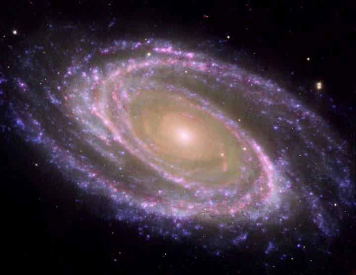 univers dans une galaxie en rotation