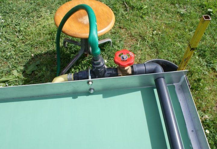 table de miller : vanne de débit